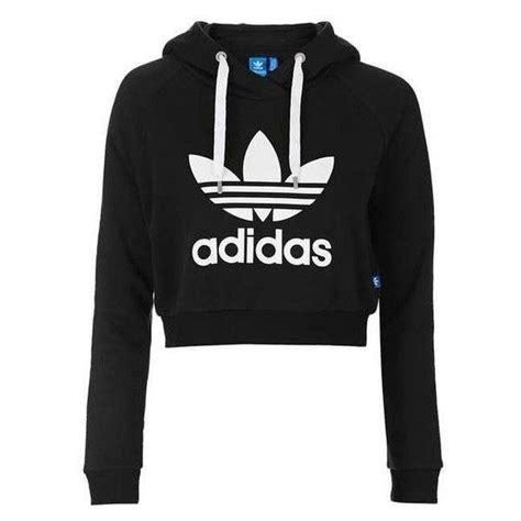 Crop Jaket Hoodie Navy cropped hoodie by adidas originals liked on polyvore