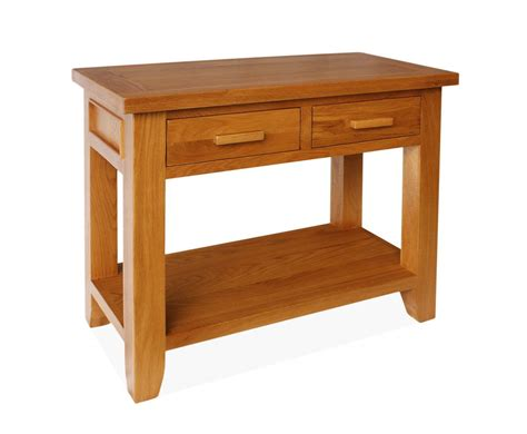 console table with drawers canterbury oak console table with 2 drawers