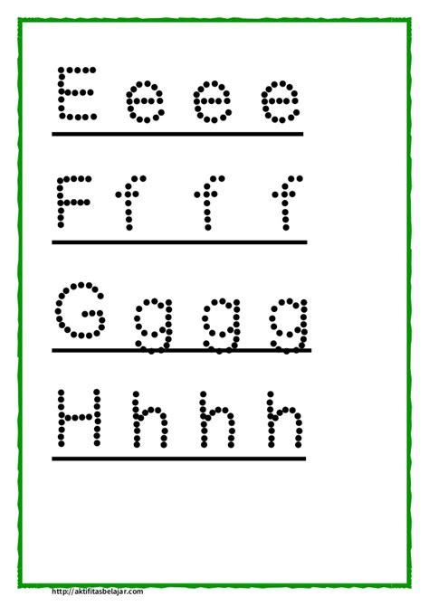 Latihan Menulis Angka latihan menulis huruf kecil bahasa melayu pra sekolah