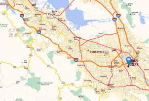 san jose california map