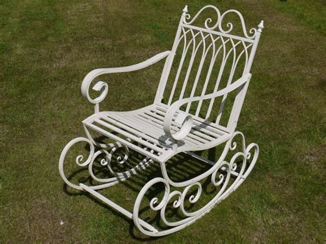 antique wrought iron rocking chairs chair wrought iron vulcanlyric org
