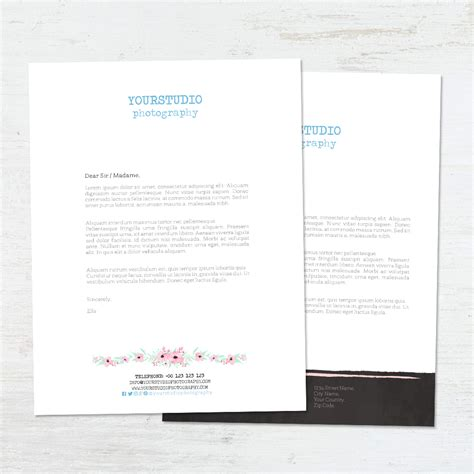Business Letter Template Photoshop Letterhead Template Flowers Letterhead Template Flowers