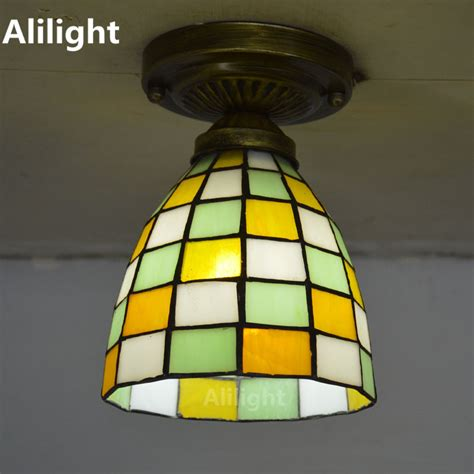 Stained Glass Lights Ceiling Stained Glass Ceiling Light Fixtures Promotion Shop For