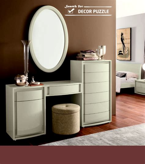 modern white dressing table with mirror ans storage drawers homes white dressing