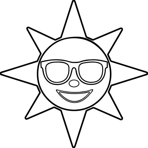 happy sun coloring page happy sun coloring page coloring pages