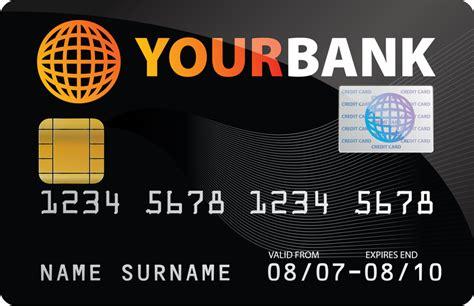 Visa Credit Card Template Vector credit card template vector