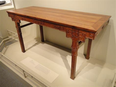 Table Th by File Table China Qing Dynasty Mid 17th Mid 18th