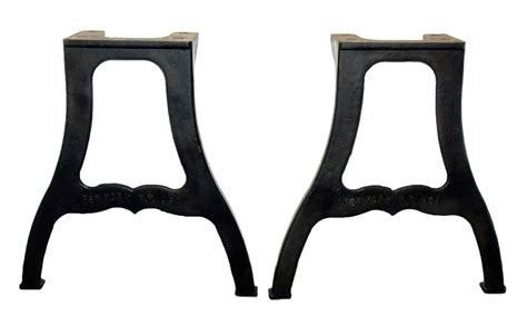 cast iron table legs pair of york ny industrial cast iron table legs olde
