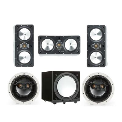 monitor audio wt250 in wall affordable home theater