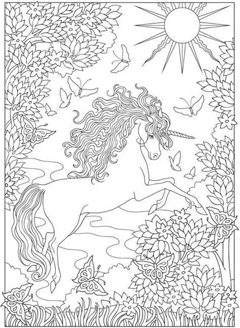 creative haven unicorns coloring book  printable