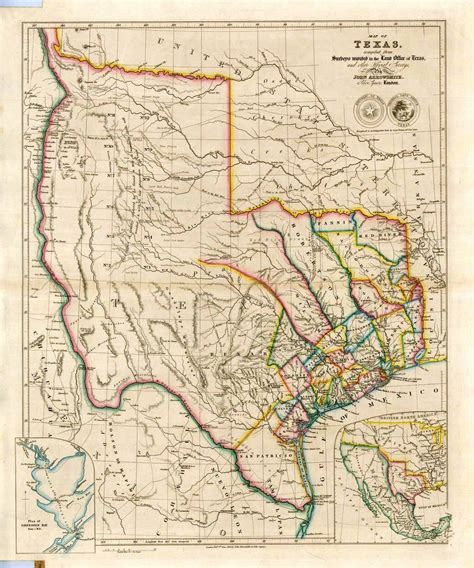 republic of texas map important 1734 henry popple maps of colonial america to sell worthpoint