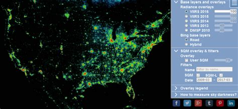light pollution map maps mania the 2016 global light pollution map