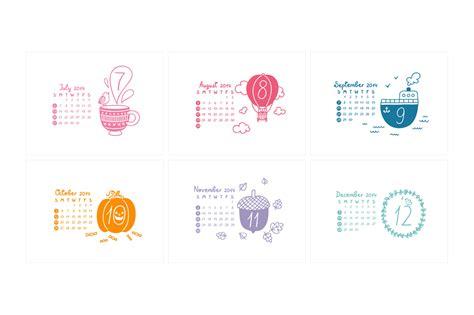 doodle calendar 2014 calendar 2014 graphics on creative market