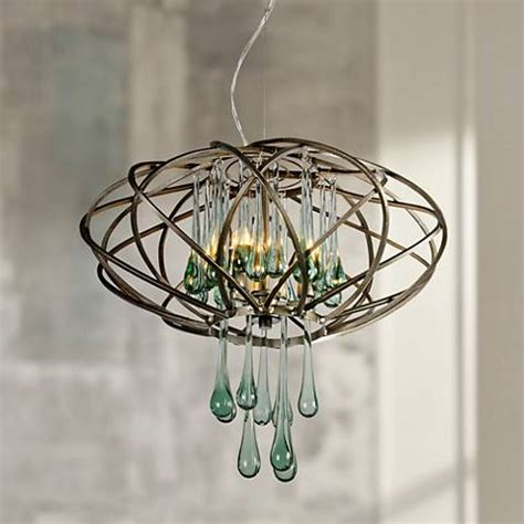 recycled glass pendant light varaluz 18 quot wide area 51 recycled glass pendant light