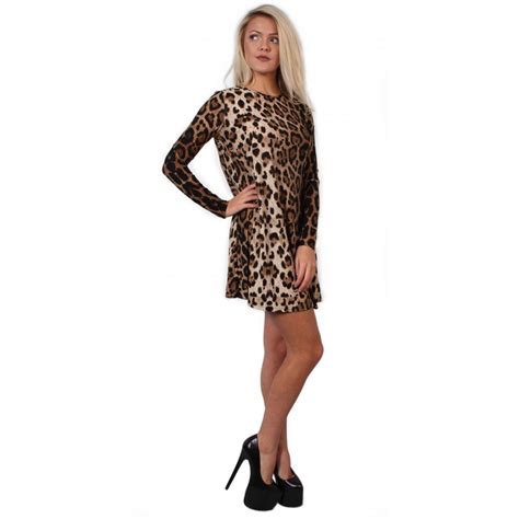 leopard print swing dress leopard print swing dress from parisia