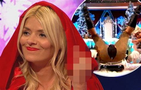 celebrity juice halloween special 2017 holly willoughby makes a rude gesture on celebrity juice