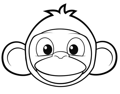 best monkey face coloring page decoloring