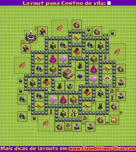 layout batman cv 8 melhores layouts para clash of clans centro de vila n 237 vel