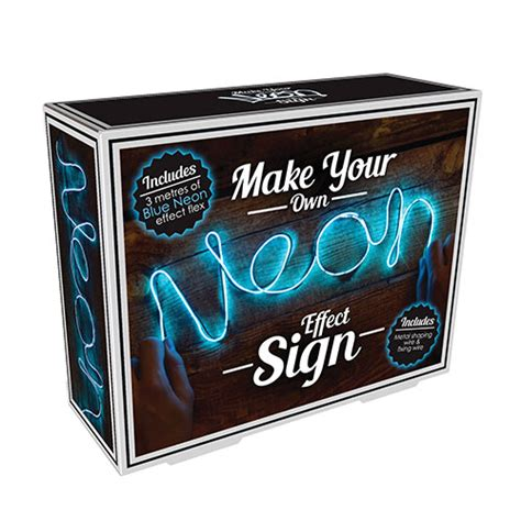 make your own lights make your own neon light blue at home