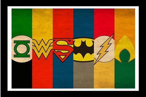 custom canvas wall decor dc comics poster justice league