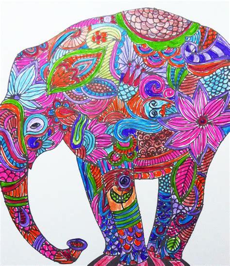 colorful elephant colorful elephant wallpaper