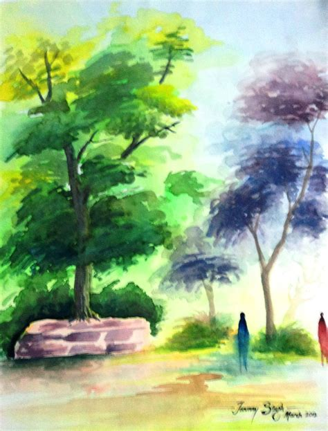 water painting lovely watercolor painting by tanmay singh desipainters