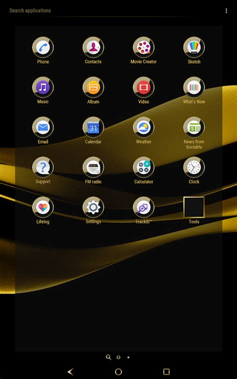 google themes gold black gold theme for xperia android apps on google play