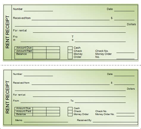 rental receipts template house rent receipt format for income tax india free