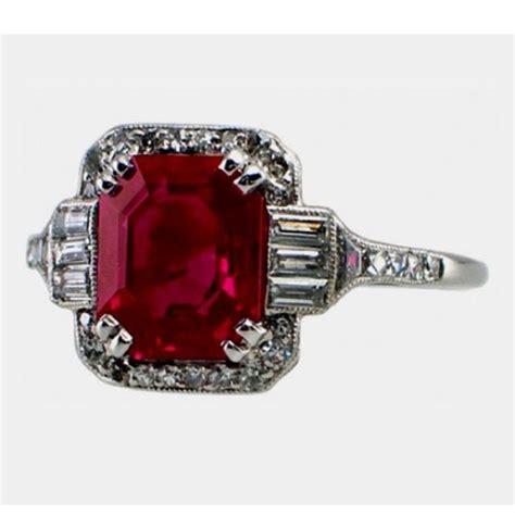 7 00 carat ruby emerald cut halo