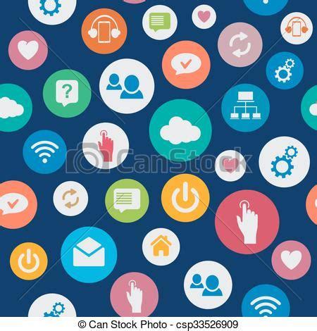 network pattern en français vector clipart of social network seamless background