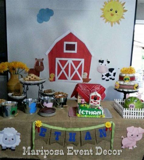 Farm Theme Baby Shower Decorations by Farm Theme Baby Shower Ideas Photo 1 Of 6 Catch