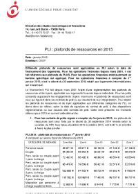 Plafond De Ressources 2015 by Plafonds De Ressources Pour Les Pli En 2015 L Union