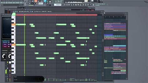 drum pattern flp piano intro for edm progressive house track fl studio