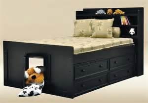 Captains Bed Black Size Captains Bed Contemporary Orange