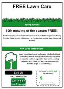 lawn care flyers templates free lawn care flyer