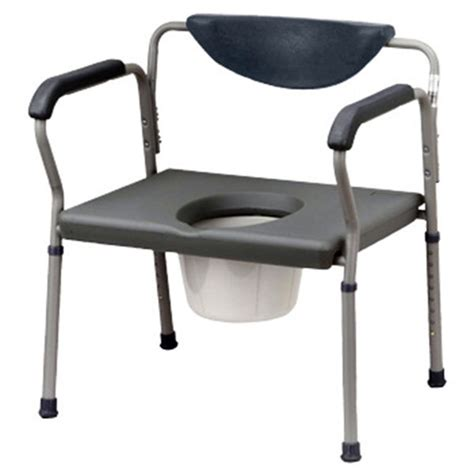 Large Commode Chair by Drive Oversized Commode Weight Capacity 650 Lbs