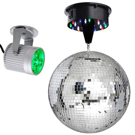 Lu Led Motor Spin 12 quot mirror disco dj stage led light rotating
