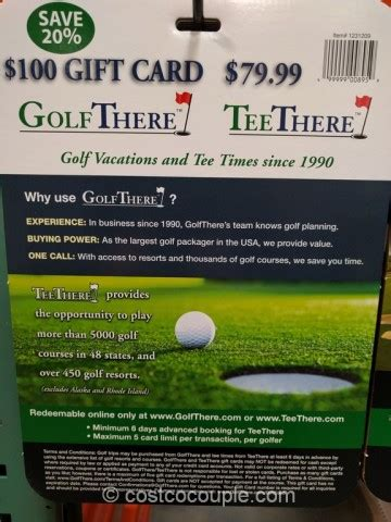 Costco K1 Speed Gift Card - golf there tee there gift card