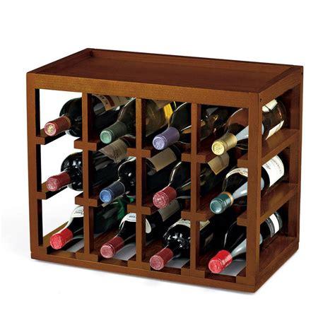 Wine Enthusiast Wine Rack by Wine Enthusiast 12 Bottle Cube Stack Wine Rack In Walnut