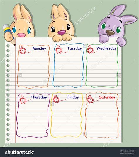 cute class schedule template schedule template free
