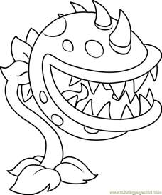 plants vs zombies coloring pages chomper coloring page free plants vs zombies coloring