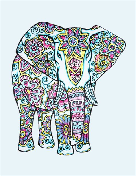elephant mandala coloring books like the coloring on this one coloring page