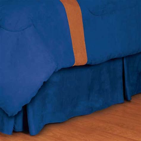 blue bed skirt blue microsuede pleated bed skirt