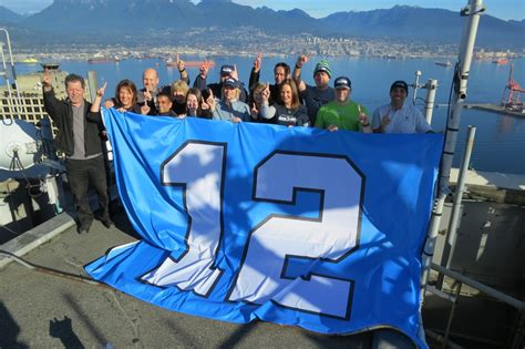 seattle seahawks 12th flag flies atop vancouver s