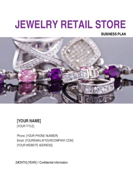 jewelry retail store business plan template sle