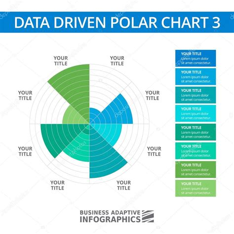 polar template data driven polar chart template 1 stock vector