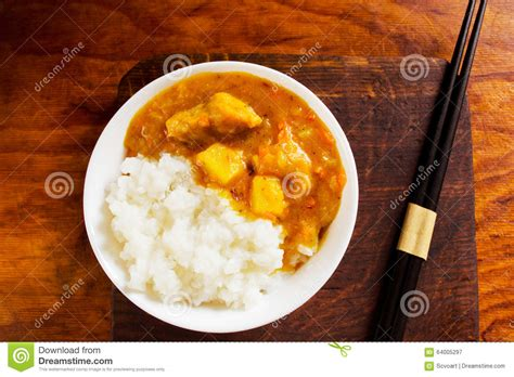 curry payment plan curry rice stock photo image 64005297