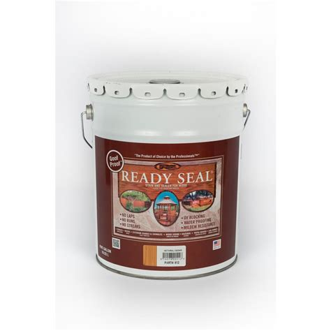ready seal  gal natural cedar exterior wood stain