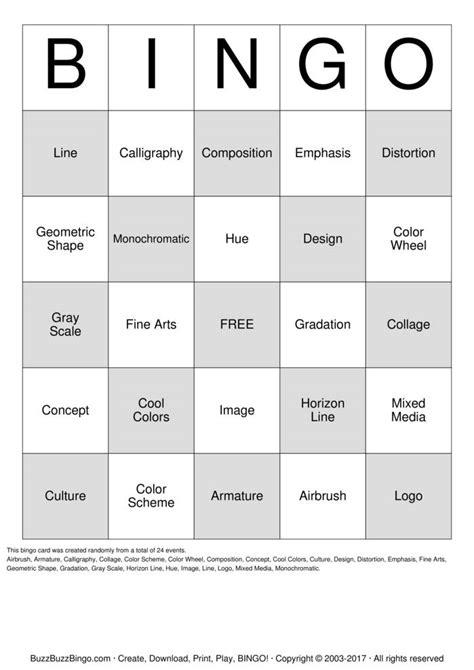 printable art bingo cards art terms bingo cards to download print and customize