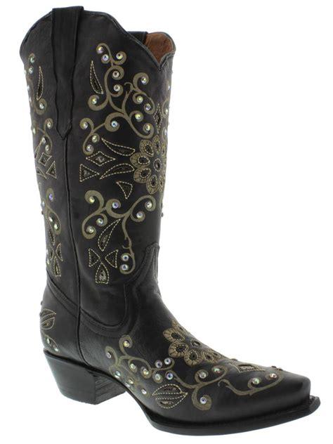 rhinestone cowboy boots womens cowboy boots leather rhinestone